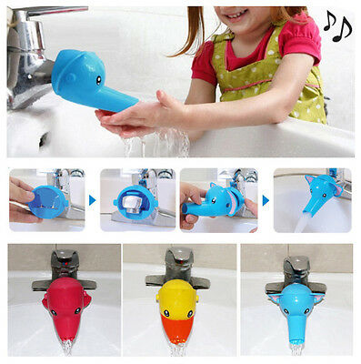 Animal Faucet Extender For Helps Children Toddler Hand Washing in Bathroom Sink