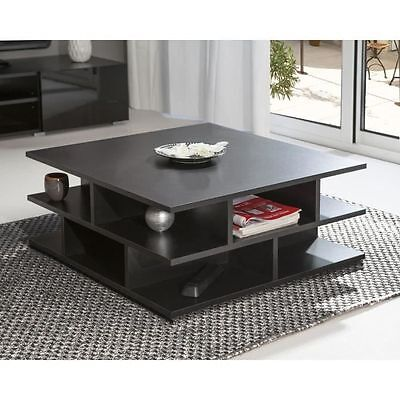 MAD Table basse multicases noir [Noir] - Symbiosis - Table basse NEUF
