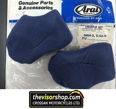 Genuine ARAI Motorcycle Helmet - CHEEK PADS 25mm - GIGA 2, FV-2