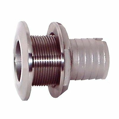 """Groco 1-1/8"""" Stainless Steel Thru-Hull with Nut"""