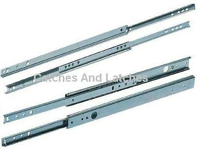Drawer Runners 17mm or 27mm Groove Ball Bearing ALL METAL Slides FREE DELIVERY