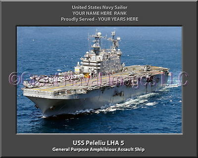 USS Peleliu LHA 5 Personalized Canvas Ship Photo Print Navy Veteran Gift