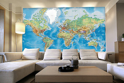 3D Business World Map Wall Paper Wall Print Decal Wall Deco Indoor wall Murals
