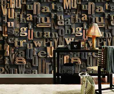 3D Embossed Letters Wall Paper Wall Print Decal Wall Deco Indoor Wall Murals