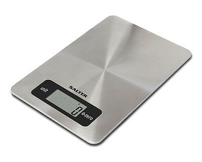 Salter Digital Kitchen Scales 5kg Stainless Steel Aquatronic Food Weighing Scale