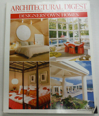 Architectural Digest Magazine Designers' Own Homes September 2007 063015R