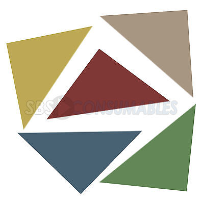 Pack of 100 Guildhall Legal Corners. Triangle Corner Tabs. 315gsm. Green or Buff