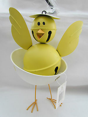 Large Newly hatched yellow CHICK novelty JINGLE BELL Easter NEW Tender Heart