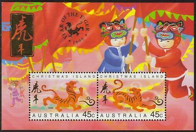 Christmas Island Mnh 1998 Sg Ms442 Year Of The Tiger Minisheet