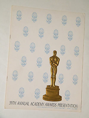 39th ACADEMY AWARDS PROGRAM 1967 Oscars Who's Afraid of Virginia Woolf  NICE!