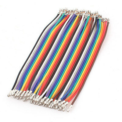 10cm 40Pin 2.54mm Pitch Jumper Cable Wire Line Crimp Terminal Female Connector