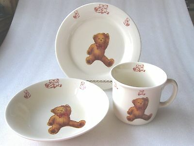 "CHILD'S FEEDING 3 PIECE SET  "" TEDDY BEARS  "" perfect"
