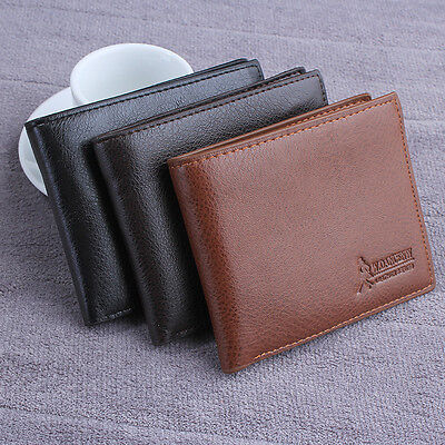 Mens Leather Wallet Card Holder Coin Purse Pockets Bifold Money Clip Wallets