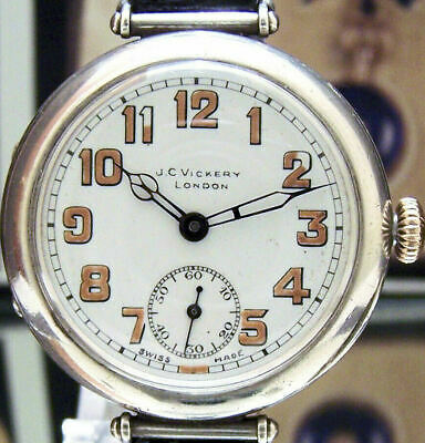 Antique 1918 Solid Silver Military Longines Trench Watch Ww1 Anglo Irish War ?