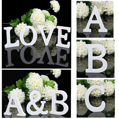A-Z Wood Letters Alphabet Wedding Party Decoration Wooden Ornaments Freestanding
