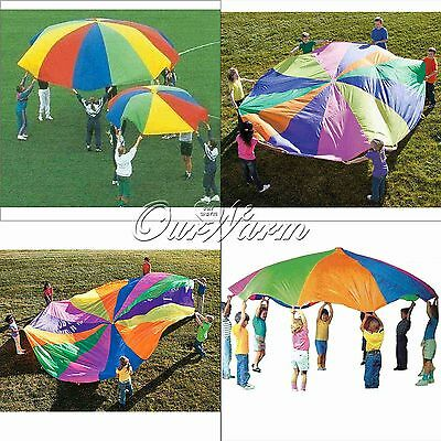 6.5ft 78inch Kids Play Rainbow Parachute Outdoor Group Game Exercise Sport Toys