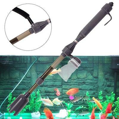 Electric Aquarium Fish Tank Battery Gravel Cleaner Washer Vacuum Syphon Sp