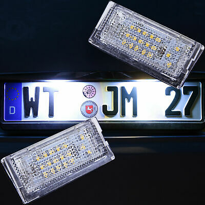 SMD LED Kennzeichenbeleuchtung BMW 3er E46 Limo Touring Compact TÜV-FREI [7104]