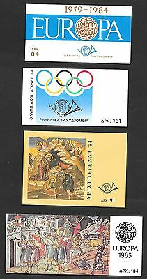 Greece stamps 1984-1985 4 Booklets  MNH  VF