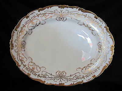 Coalport - ANNIVERSARY WHITE & GOLD - Large Oval Platter