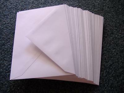 100 White Mini Envelopes - Ideal for Weddings - 100gsm