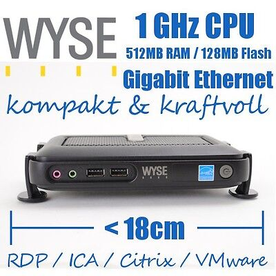 WYSE WTOS Thin Client Thinclient C10LE RDP Terminal 1,0 GHz 512MB RAM 128MB