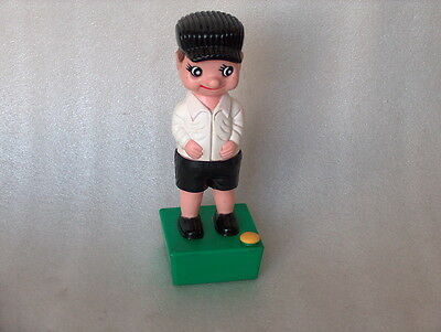 Vintage Plastic or Celluloid Mechanical Toy - Boy Peeing, made in China
