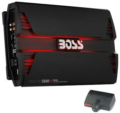 New Boss Audio PD5000 5000W Mono D Car Audio Amplifier Power LED Amp+Remote