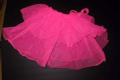 NWT Hot Pink 2 layer back bustle Dance Costume Organdy ladies Majorette Sassy