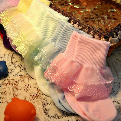Hot Baby Kids Toddler Girls Socks Breathable Soft Cotton Cute Lace New Fashion