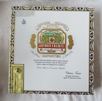 Arturo Fuente Chateau Fuente Paper Covered Wood Cigar Box - Beautiful!
