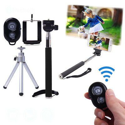 Bluetooth Extendable Handheld Monopod Tripod Selfie Stick For iPhone Smart Phone