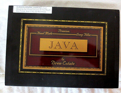 Drew Estate Java Toro Maduro Black Wood Cigar Box - Nice!