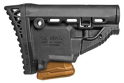 GLMAG SRP-S FAB Defense Black Butt Stock with MagazineCarrier IDF