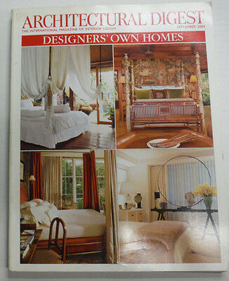 Architectural Digest Magazine Designers' Own Homes September 2004 070415R