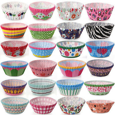 50PCS Petal Muffin Cupcake Paper Cases Liners Cups Wedding