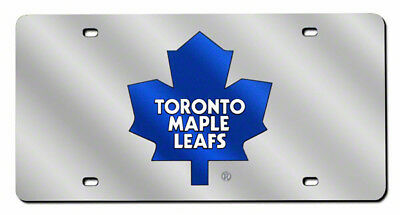 Toronto Maple Leafs NHL Logo Mirror Look LASER License Plate