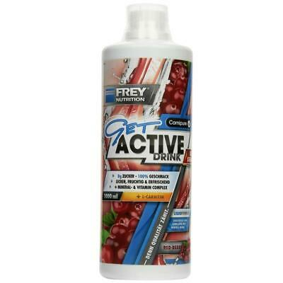 (16,90 EUR/l) Frey Nutrition Get Active Drink Ultra Strong 1000ml Red Berry NEU