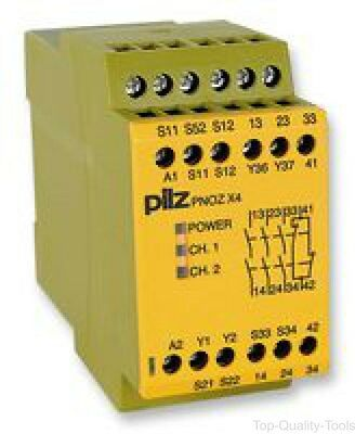 Pilz, Pnozx4, Relay, Safety, 3No, 24Vdc
