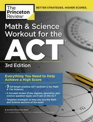 Math And Science Workout For The Act, 3Rd Edition by Princeton Review (English)