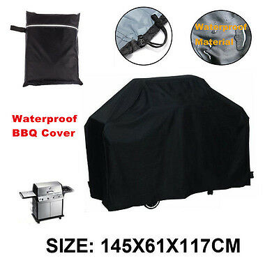 145cm Waterproof BBQ Grill Cover Outdoor Garden Barbeque Grill Storage Protector
