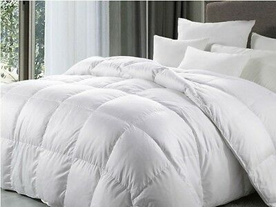 New Double Bed Size 10.5 Tog 100% White Duck Feather Duvet / Quilt