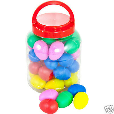 Percussion Workshop OSC84 Coloured Egg Shakers - Tub Of 40 in Random Colours