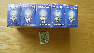 Halogen Vespa Px Disc 12V Bulbs.pack Of.10 Bulbs.fits Other Scooters,cars,bikes
