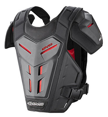 EVS Revolution 5 Roost Guard Chest Protector Grey Red One Size
