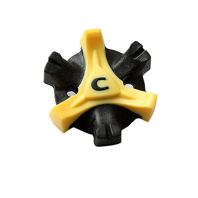 Trendy Design 10Pcs Black+Yellow Easy Replacement Spikes Cleats Golf Shoes ATAU