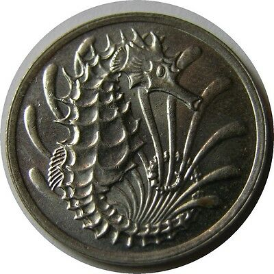 elf Singapore 10 Cents 1971  Sea Horse