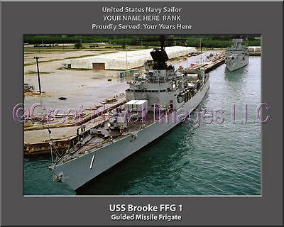 USS Richard L Page FFG 5 Personalized Canvas Ship Photo Print Navy Veteran Gift