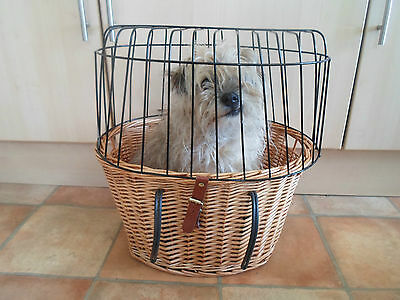Fab Wicker Bicycle Basket For Small Dog or Shopping Groceries Etc. Removable Lid