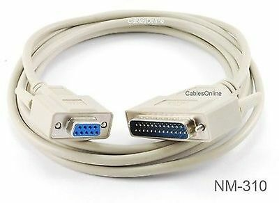 3ft DB9 Null Modem Female//Female RS232 Serial Cable CablesOnline NM-203